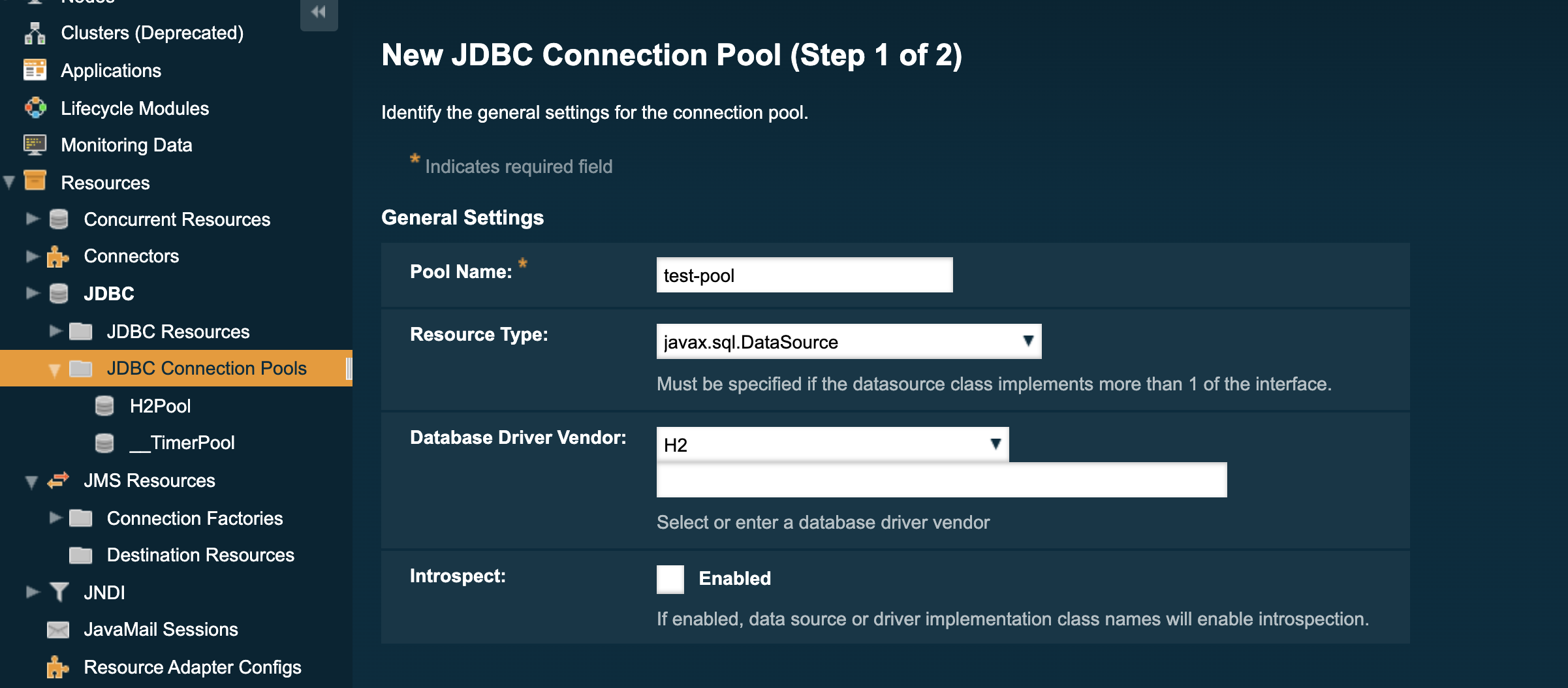 New JDBC Connection Pool