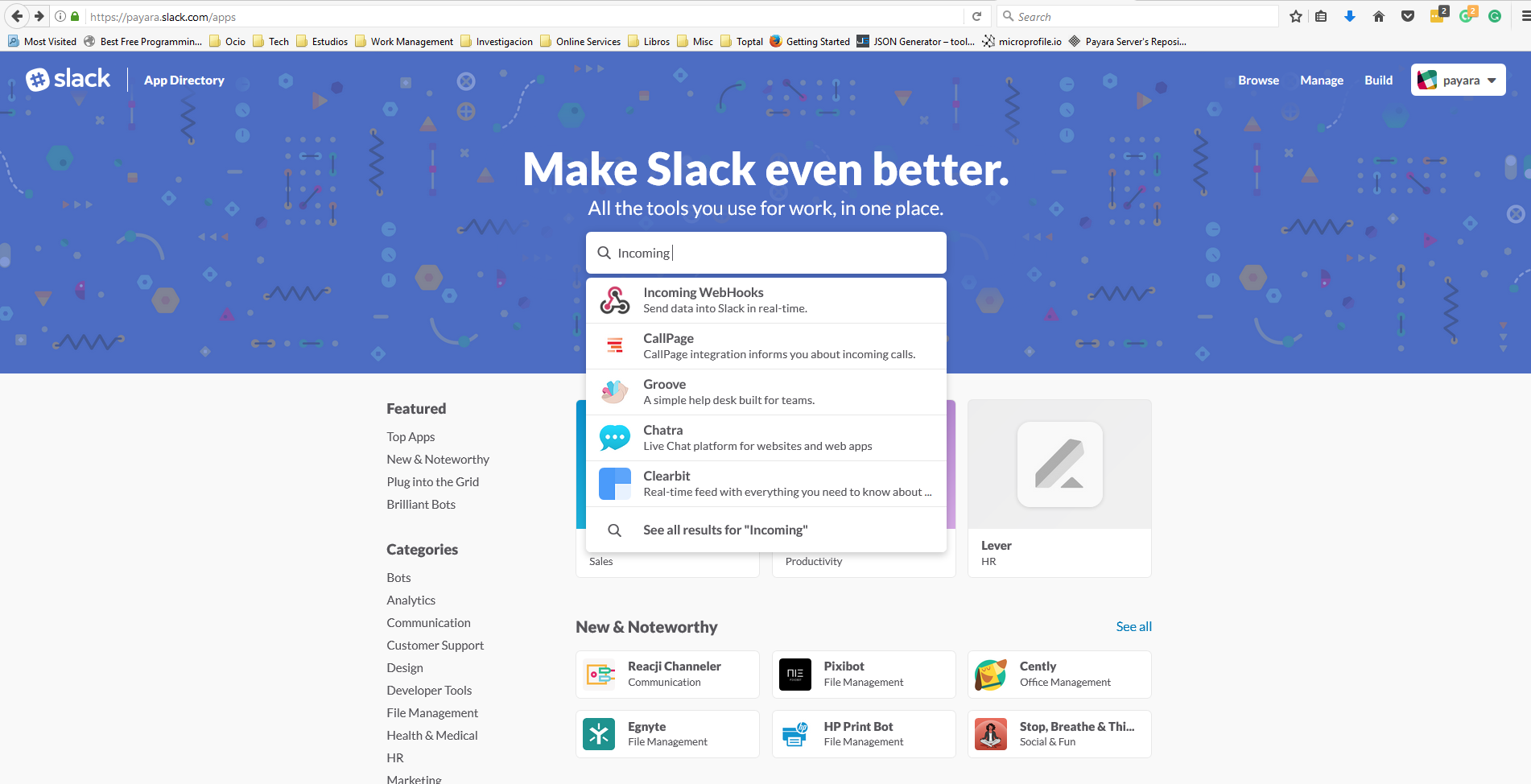 Slack Application Portal