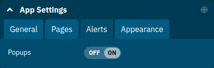 Application Alerts Settings